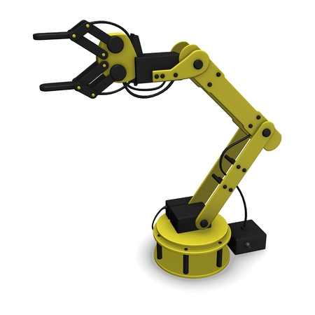 arm in arm: 3d render of robotic arm Stock Photo