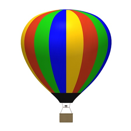 3d render of hot air balloons Stock Photo
