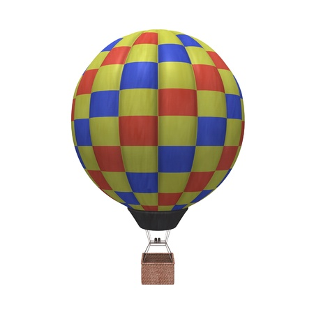 3d render of hot air balloons photo