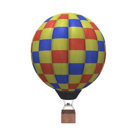 balon: 3d render of hot air balloons Stock Photo