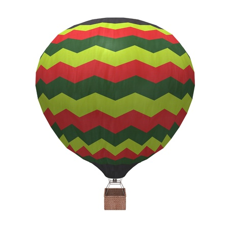 air baloon: 3d render of hot air balloons Stock Photo