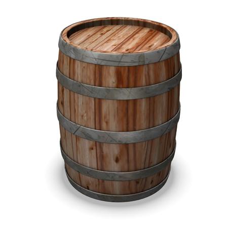 Rendu 3d de tonneau en bois Banque d'images - 12892531