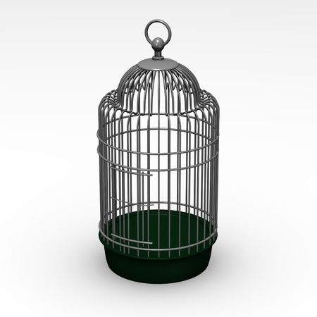 3d render of bird cage Stock Photo - 12892532