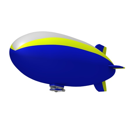 3d render of hot air blimps photo