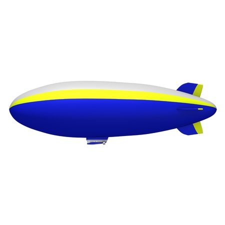 3d render of hot air blimps Stock Photo