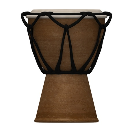 bongo drum: 3d render of bongo drum Stock Photo
