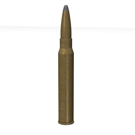 3d bullet: 3d render of gun bullet