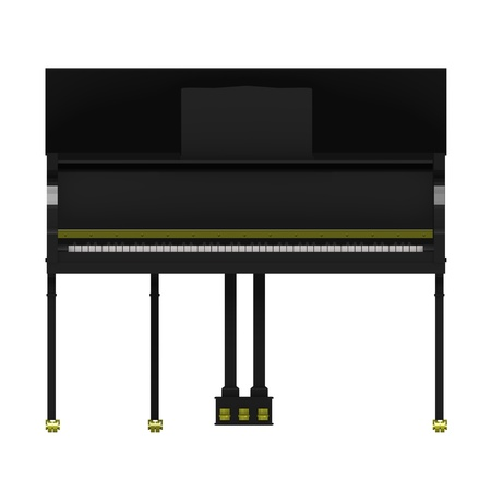 3d render of wooden piano Stock Photo - 12894519