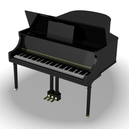 clavier: 3d render of clavier (piano) Stock Photo