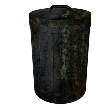 3d render of dust bin photo