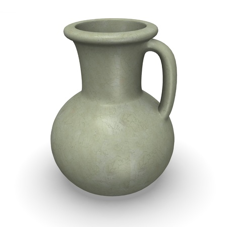 3d render of  egyptian vase photo