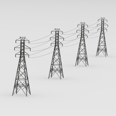 3d render of electric line photo