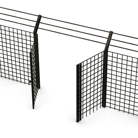 3d render of fence door  photo