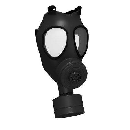 3d render of gas mask