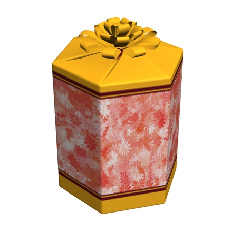 3d render of gift (present)  Stock Photo - 12895161