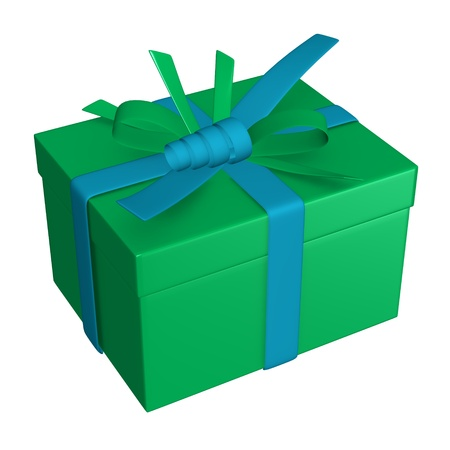 3d render of gift (present)  photo