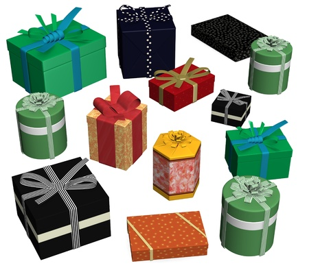 3d render of gifts(presents)  photo