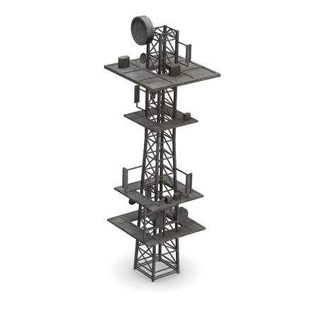 3d render of gsm tower