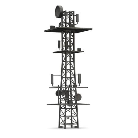 antenna: 3d render of gsm tower
