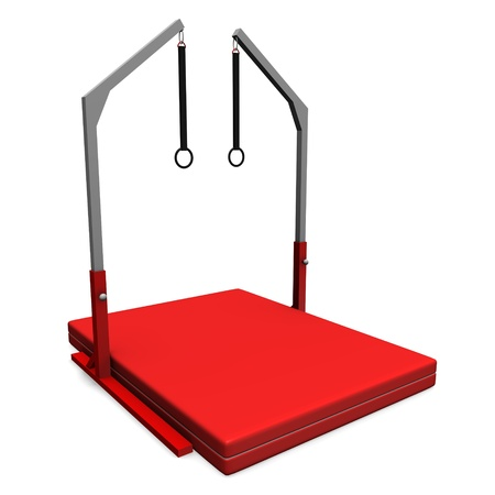 3d render of gym equipment photo