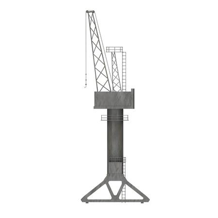 3d render of harbor crane  photo