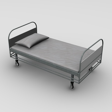 3d render of hospital bed photo