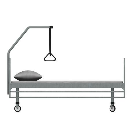 3d render of hospital bed photo