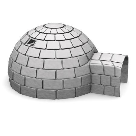 3d render of ice igloo Stock Photo - 12895159