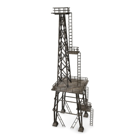 3d render of industrial tower Stock Photo - 12895158