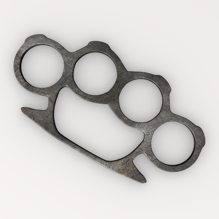 3d render of knuckle weapon photo