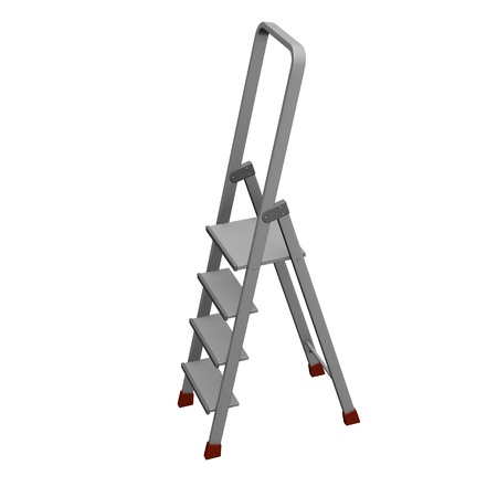 3d render of ladder stairs  photo