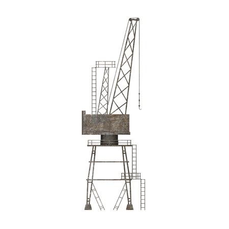 3d render of land crane Stock Photo - 12894690