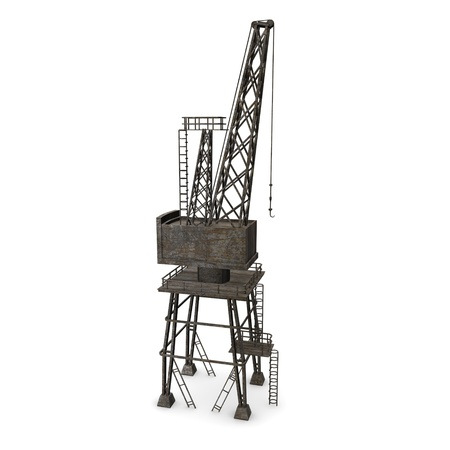 3d render of land crane Stock Photo - 12895055