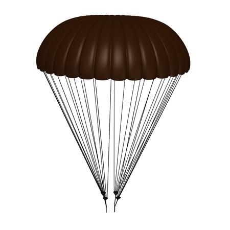3d render of parachute model