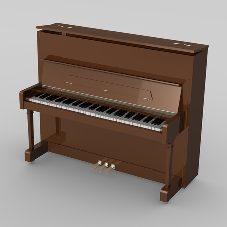 3d render of piano musical instrument Stock Photo - 12894626