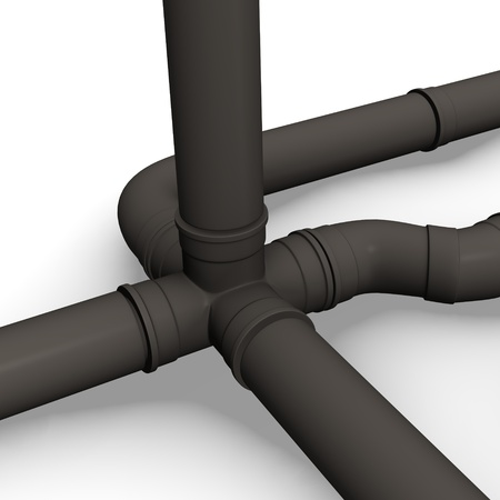 3d render of industrial pipes  photo
