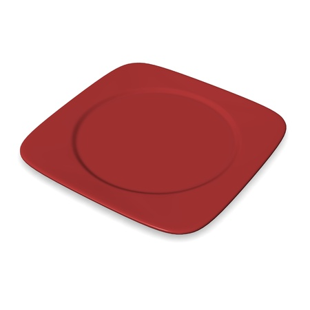 3d render of food plate photo