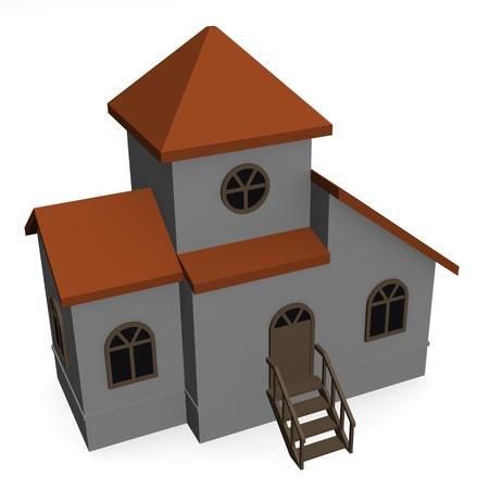 3d render of russian housing