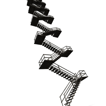 3d render of metal stairs photo