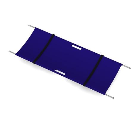3d render of hospital stretcher