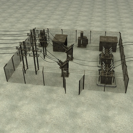 3d render of substation electric photo