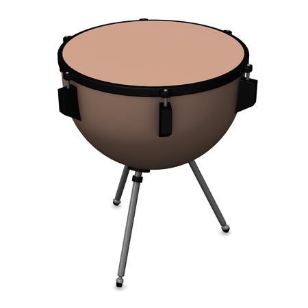 3d de tambor timbales photo