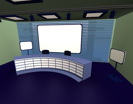 sports programme: 3d render of tv studio Stock Photo