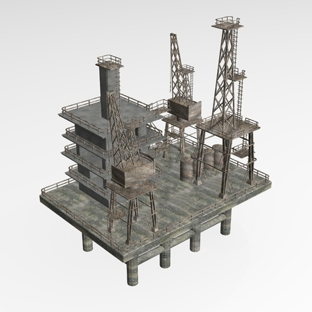 3d render of drilling rig photo