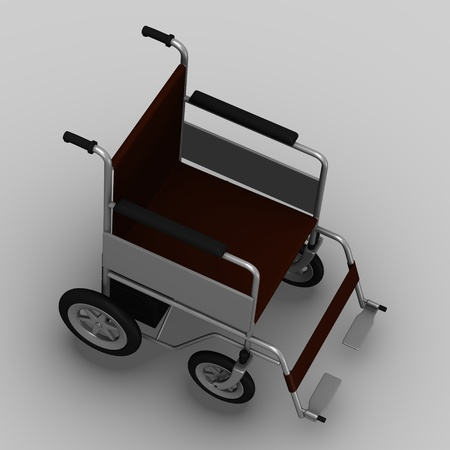 3d render of wheel chair electric photo