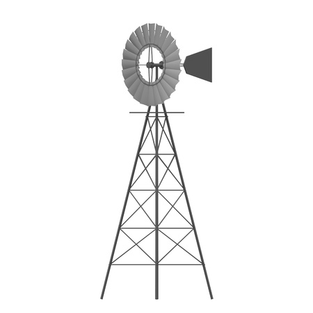 3d render of wind mill photo