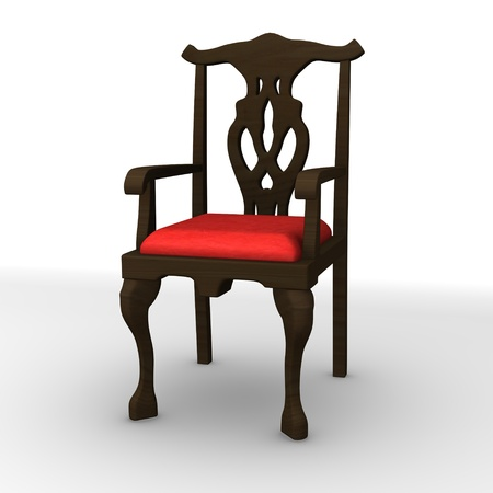 curio: 3d render of antique chair  Stock Photo