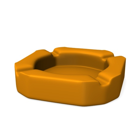 reciever: 3d render of ash tray