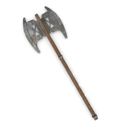 3d render of axe (weapon)  photo