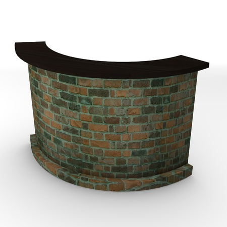 lectern: 3d render of bar table